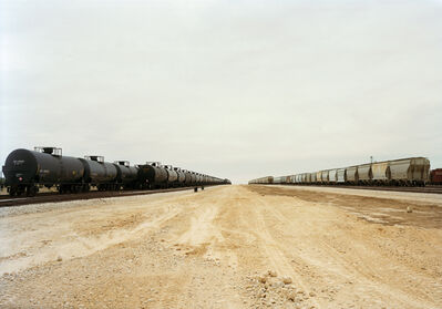 Victoria Sambunaris, 'Untitled (Parallel Cars) near Cotulla, Texas, 2012', 2015