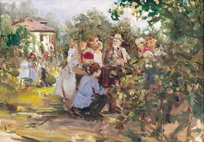 Aleksandr Nikiforovich Chervonenko, 'At Michurin´s garden', 1960