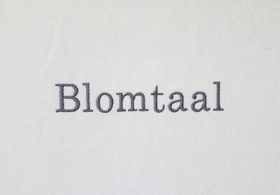 Lien Botha, 'Blomtaal', 2019