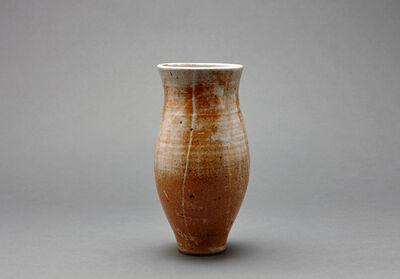 Young Jae Lee, 'Cylindrical vase, petalite, feldspar, and oak ash glaze with engobe brushwork'