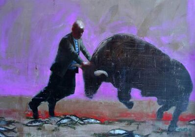 Richard Twose, 'Gavin Turk and the Minaturomachie', 2017