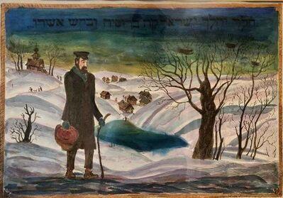 Eugene Abeshaus, 'Jewish Shtetl Wanderer', 20th Century