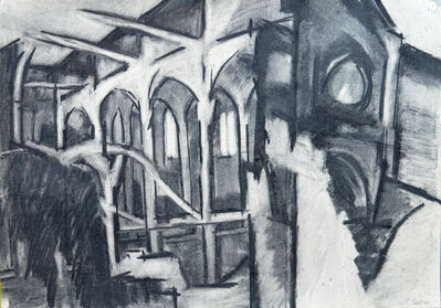 Dorothy Mead, 'Interior of a Church', 1966