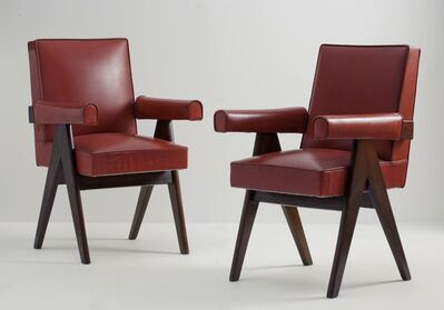 Pierre Jeanneret, 'Pair of Committee Armchairs', ca. 1953