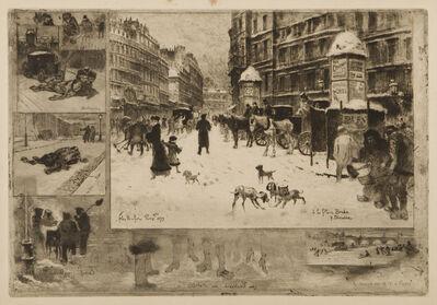 Félix Hilaire Buhot, 'L'Hiver a Paris, or La Neige a Paris', 1879