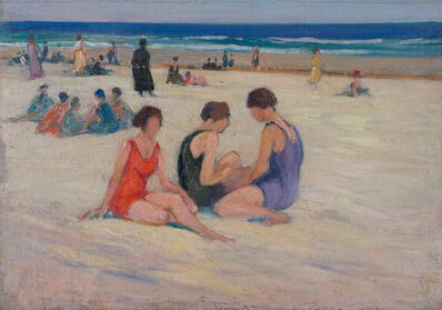 Charles Herbert Woodbury, 'Red and Lavender Bathing Suits', 19th -20th Century