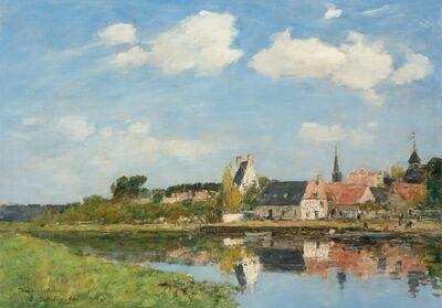 Eugène Boudin, 'Le Vieux Port de Touques', 1890
