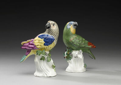 "Johann Joachim Kändler, 'A pair of parrots ""medium sort""', before 1741 and 1741"