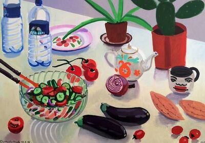 Zoya Cherkassky-Nnadi, 'Still Life with Salad', 2014