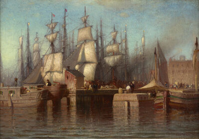 Samuel Colman, 'View of the Seaport, New York', 1869