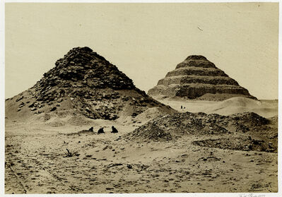 Francis Frith, 'The Pyramids of Sakkarah, from the North East', 1847 printed later