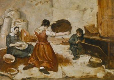 Gustave Courbet, 'Study for Les Cribleuses de blé ', 1854