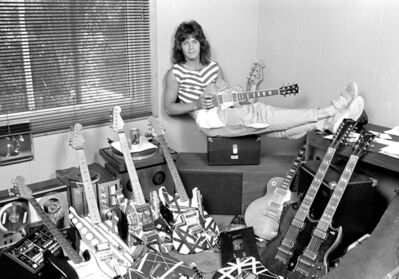 Richard E. Aaron, 'Eddie Van Halen at Home', 1982