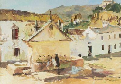 Jean-Gaston Mantel, 'Paysage à l'abreuvoir', Peint en 1965