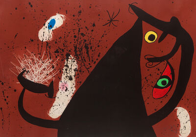 Joan Miró, 'La Frappeuse de Silex', 1973