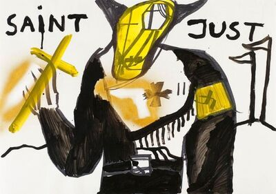 Jonathan Meese, 'Der Goldlegionär St. Staatsaint Just', 2000