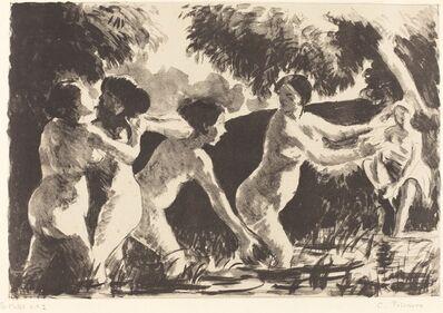 Camille Pissarro, 'Wrestling Bathers (Baigneuses luttants)', ca. 1896
