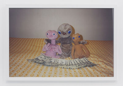 Andrew Jeffrey Wright, '3 E.T.s on bed', 2001