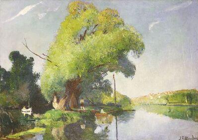 Jean-Franck Baudoin, 'FIGURES BOATING ON A RIVER'