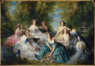Franz Xavier Winterhalter, 'L'impératrice Eugénie entourée de ses dames d'honneur (Empress Eugénie surrounded by her ladies of honor)', 1855