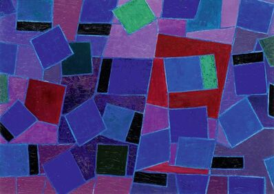 Johannes Itten, 'Quadrate In Bewegung', 1958
