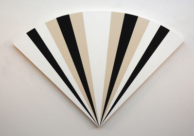 Aron Hill, 'Fan 1213231323121 - alternating black & white sequence in art deco style', 2016