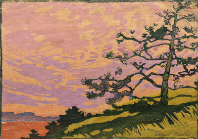 Margaret Jordan Patterson, 'Lone Pine at Sunset'