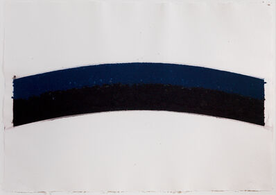 Ellsworth Kelly, 'Colored paper III (Blue Black Curves)', 1976