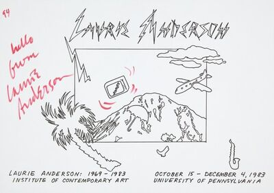 Laurie Anderson, 'Untitled', 1983