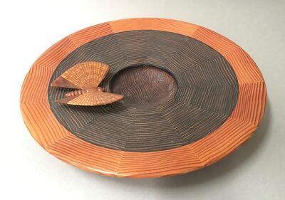 Albert Clarke, 'Untitled Platter with Segmented Wood Butterfly', ca. 2000
