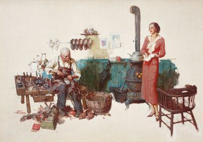 Saul Tepper, 'Woman Standing in Cobbler's Shop'