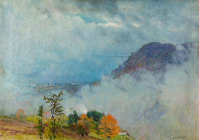 John Joseph Enneking, 'Morning Mist, Jefferson, New Hampshire', ca. 1885