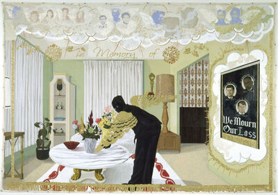 Kerry James Marshall, 'Souvenir I (Limited Edition, screen printed on cotton percale pillow sham)', 2017