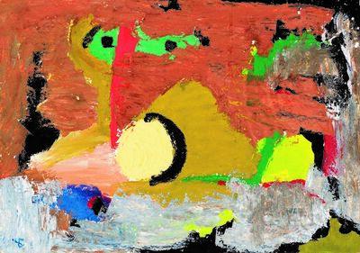 Boris Chetkov, 'Black Moon Above the City', 1970