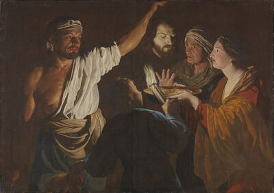 Matthias Stom, 'Salome receives the Head of John the Baptist', 1630-1632