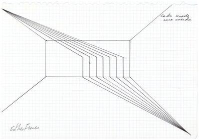 Esther Ferrer, 'Proyectos espaciales #4'