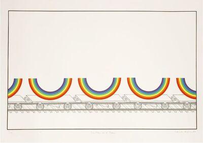 Patrick Hughes, 'RAINBOW ON A TRAIN', 1980