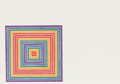 Frank Stella, 'Honduras Lottery Co., from Multicolored Squares, State II', 1973