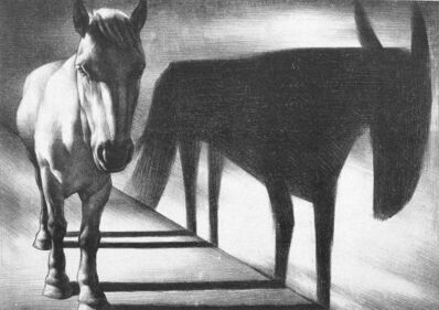 Su Xinping 苏新平, 'Horse and Shadow', 1987