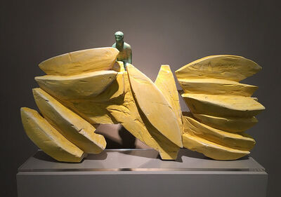Raúl Díaz, 'Maquette for BOTES GRANDES', 2019