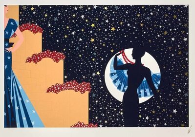 Erté (Romain de Tirtoff), 'Star Spangled Night', 1990