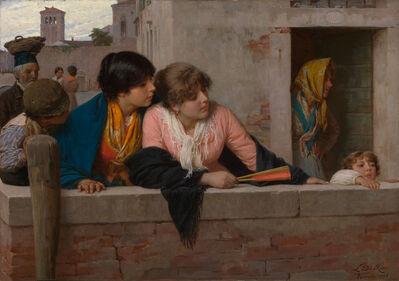 Luigi da Rios, 'Overlooking a Canal, Venice', 1886