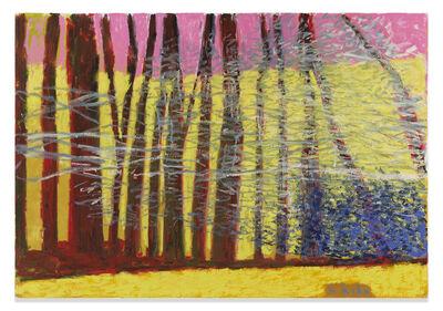 Wolf Kahn, 'Yellow Uphill', 2019
