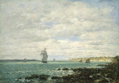 Eugène Boudin, 'Coast of Brittany', 1870