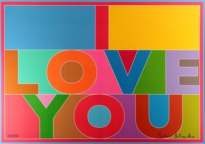 Sir Peter Blake, R.A., 'I Love You (Canvas)', 2013