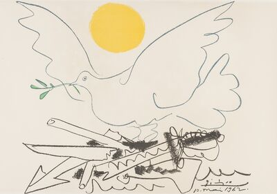 Pablo Picasso, 'Poster for World Congress for General Disarmament and Peace (Czwiklitzer 201)', 1962