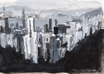 James Hart Dyke, 'Hong Kong from The Peak, Study', 2012