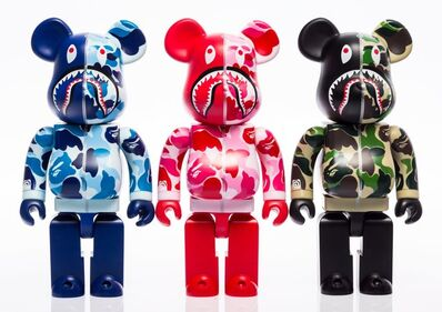 BE@RBRICK X BAPE, 'Camo Shark Hoodie 400%, set of three', 2016