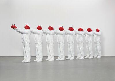 Liu Bolin, 'Red hand', 2008