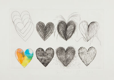 Jim Dine, 'Eight Hearts', 1969